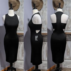 Express stretchy cut-out racerback dress